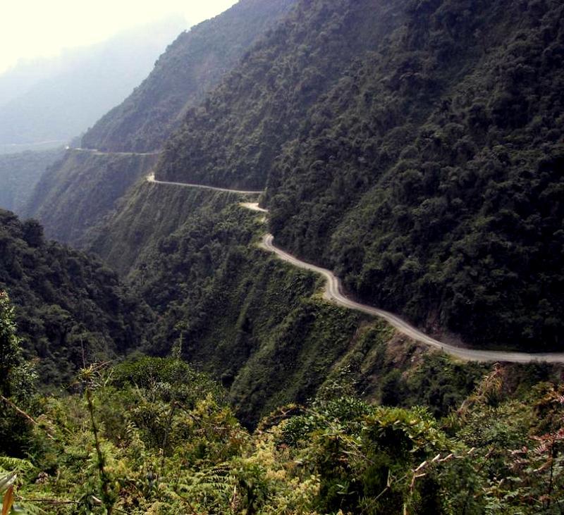 Carreteras peligrosas-Bolivia-NorYungas