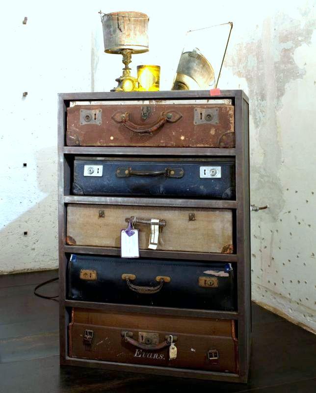 C mo transformar antiguas maletas en tiles muebles - Transformar muebles antiguos ...