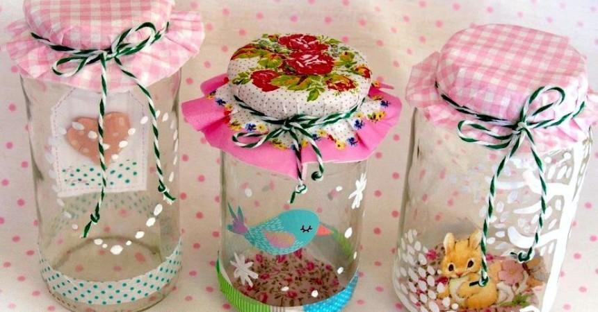 C mo reciclar envases vac os para darles nueva utilidad for Envases de vidrio decorados