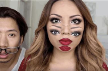 Cómo hacer un maquillaje con efecto de visión doble para Halloween