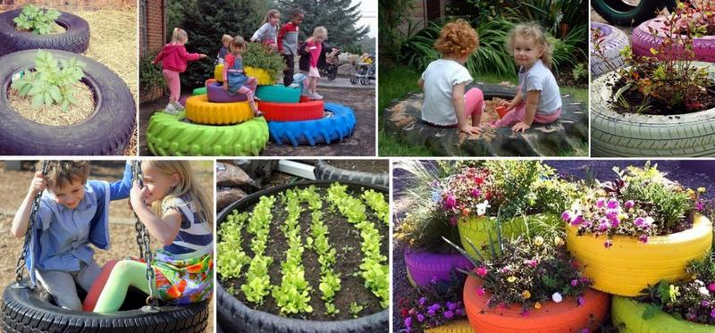 4 ideas para reciclar tu hogar con neum ticos users life - Como hacer un jardin bonito ...