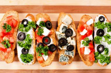 5 opciones de bruschettas gourmet