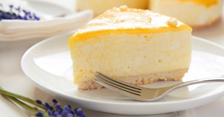 Deliciosa tarta de limón y yogurt