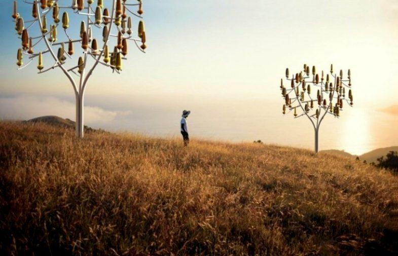 """Wind Tree, el """"árbol del futuro"""" que produce energía eléctrica"""